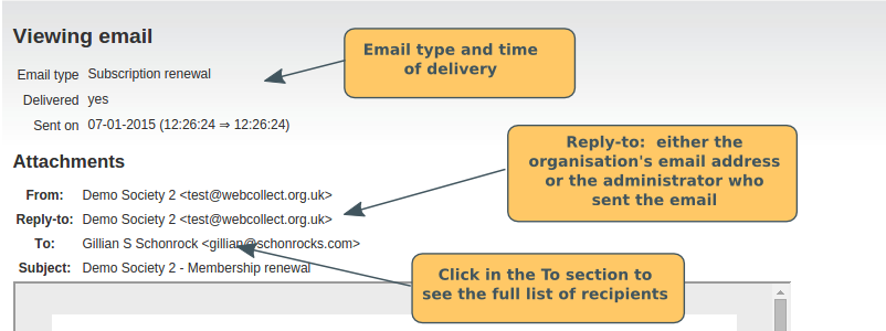 how to see emails sent from xero