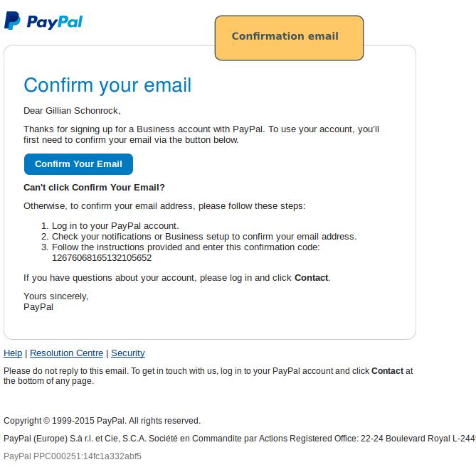 Paypal Set-Up: Creating a new Paypal account