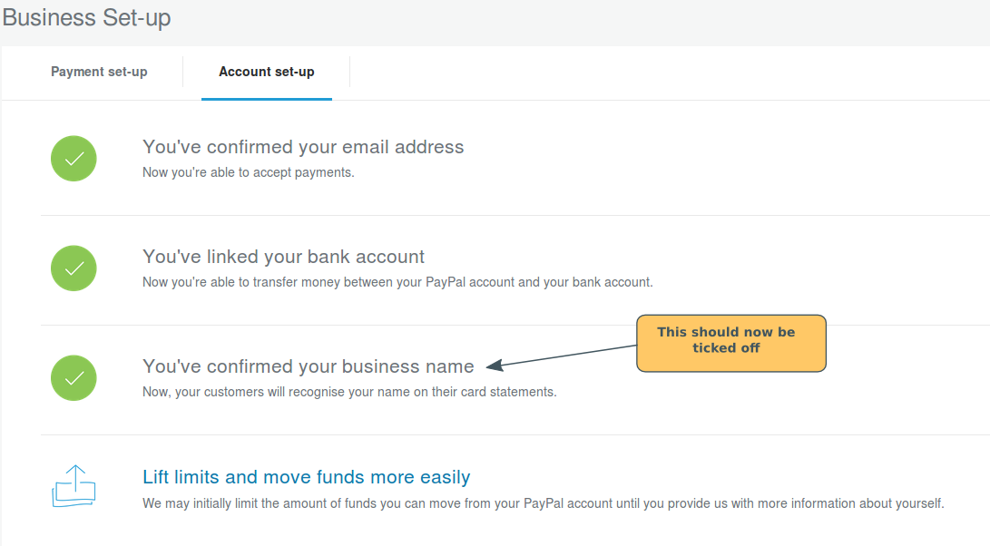 Paypal Set-Up: Making your business name clear